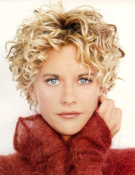 Curly Pixie Meg Ryan Always Loved This On Her Now If I Could Just Get That Color Curly Hair Styles Hair Styles Short Curly Haircuts
