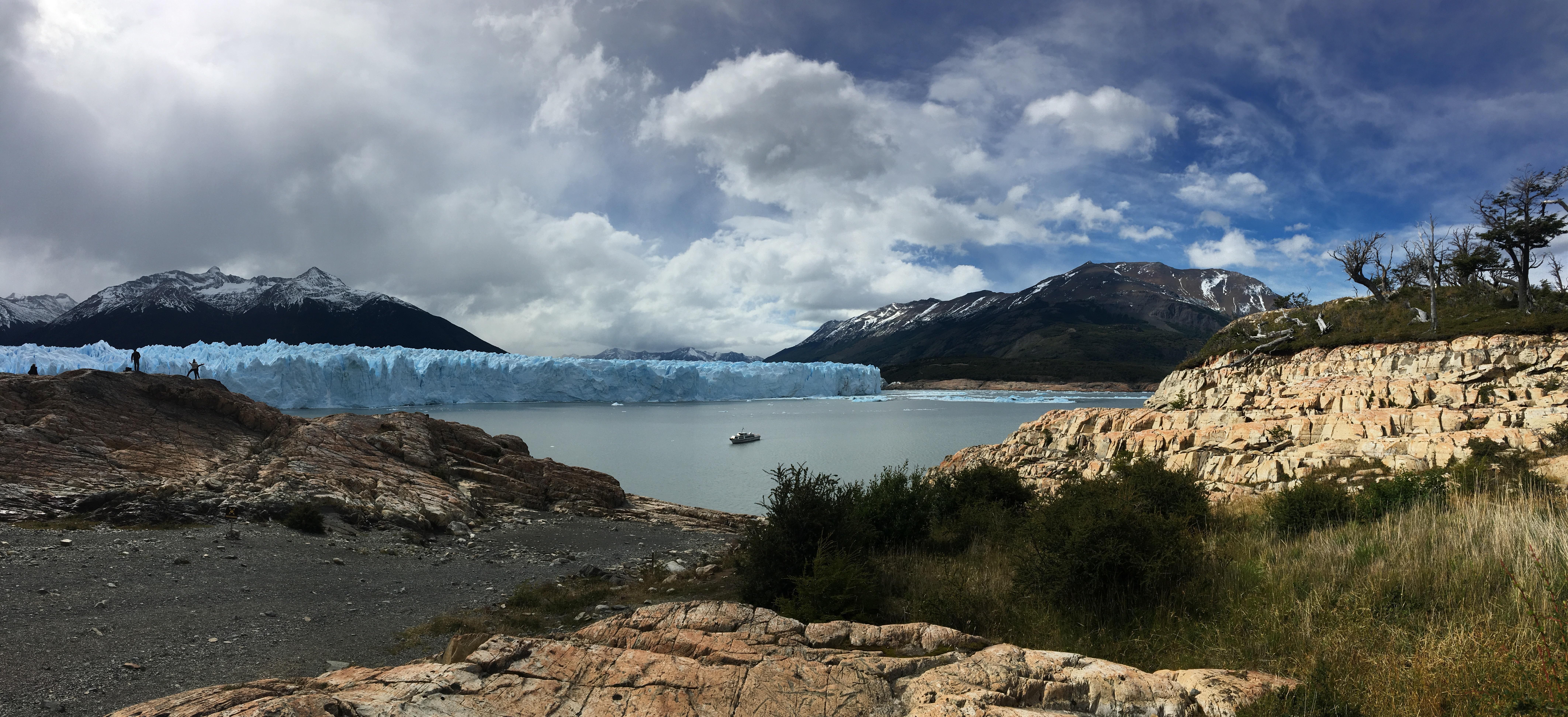 Panoramic view while trekking Perito Moreno. Argentinian