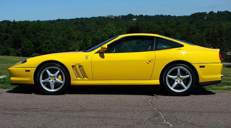Ferrari 550 Maranello , yellow car