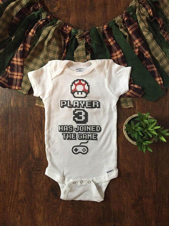 44eb02389 Super mario onesie® super mario baby player 3 has entered | newborn ...