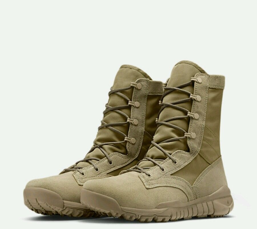 3acd85c7252ab5 Nike SFB Leather Mens Military Boot British Khaki 688973-200 size 8-13   Nike  Military
