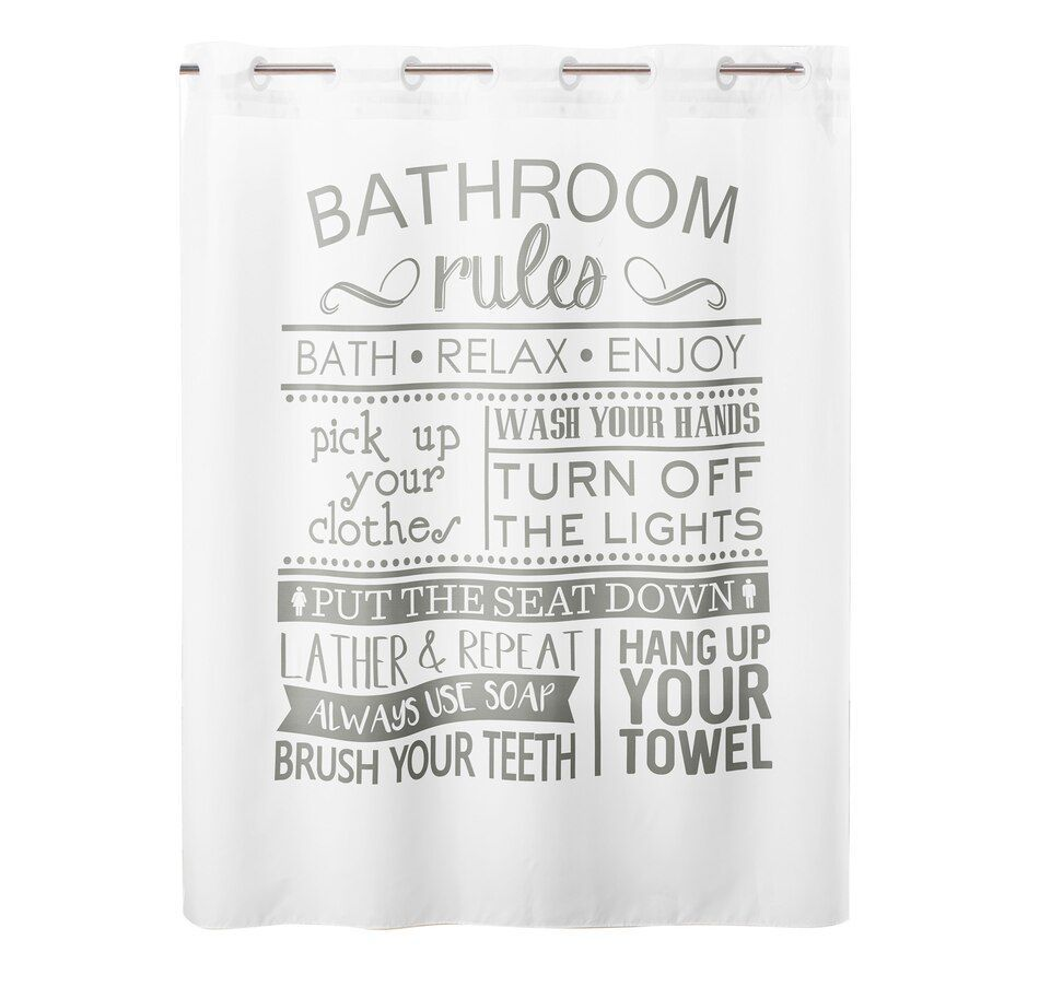 Hookless Bathroom Rules Shower Curtain Bathroom Curtain Hookless