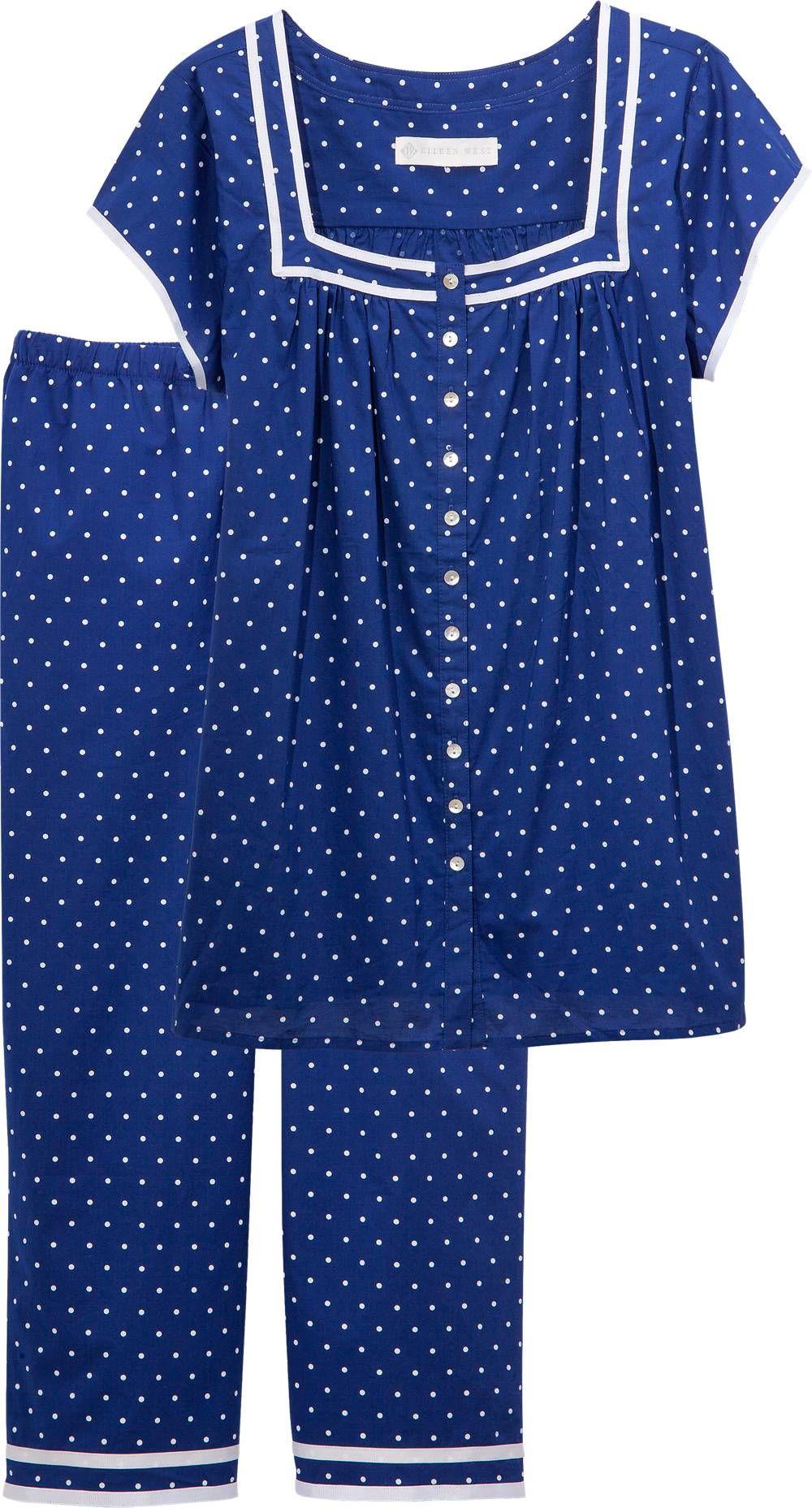 Eileen West Summer Blues Pjs Cotton Lawn Pajamas For Women Pajamas Women Cotton Night Dress Cotton Pajamas Women [ 1857 x 1000 Pixel ]