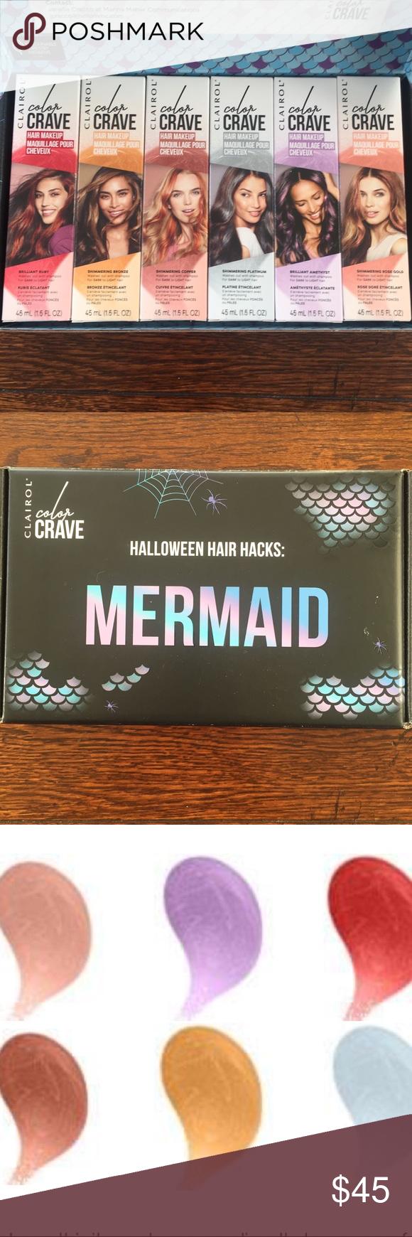 Clairol color crave hair makeup set/6 shades NWT Hair