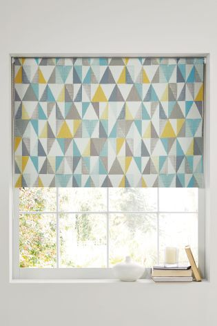 Buy Textured Geo Print Blackout Roller Blind From The Next Uk Online