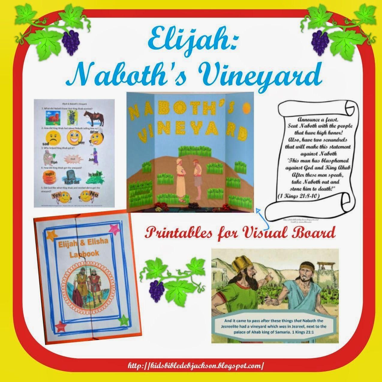 Elijah Naboth S Vineyard Bible Crafts Preschool Bible Class