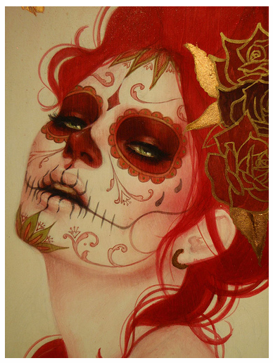 Sylvia Ji..think i might do this for halloween...be a day of the dead pin-up :)