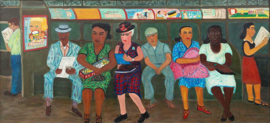 15 Artists Who Captured New York Life on the Subway Folk