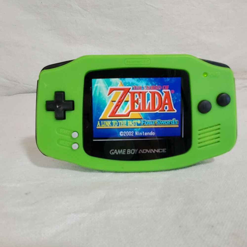 Kiwi Green (new case) Backlit Gameboy Advance (AGS-101 screen mod