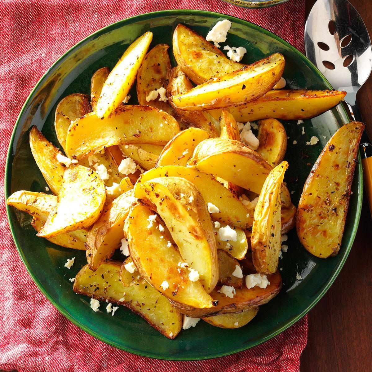 roasted greek potatoes with feta cheese recipe greek potatoes recipes potato recipes pinterest
