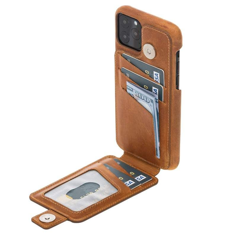 Edmonds leather snap on wallet case for iphone 11 pro