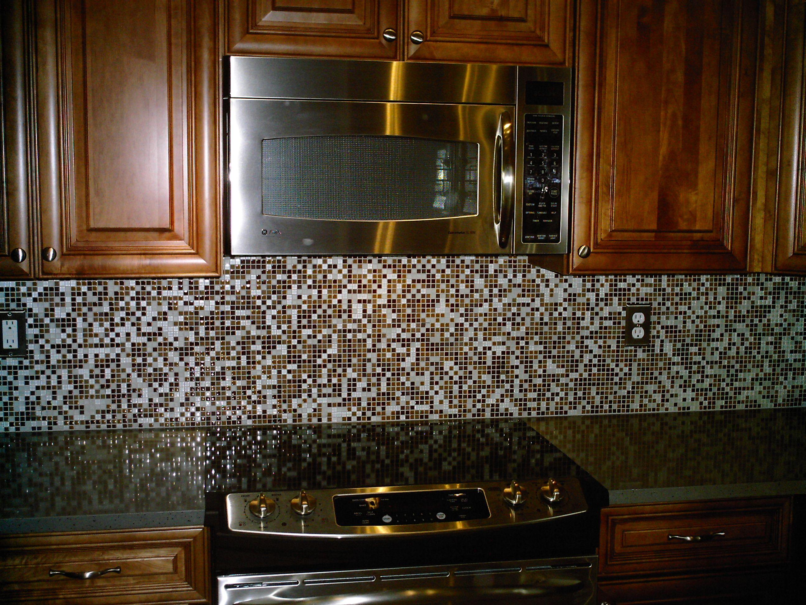 Glass Backsplash With Black Granite Top Mosaic Tile Backsplash