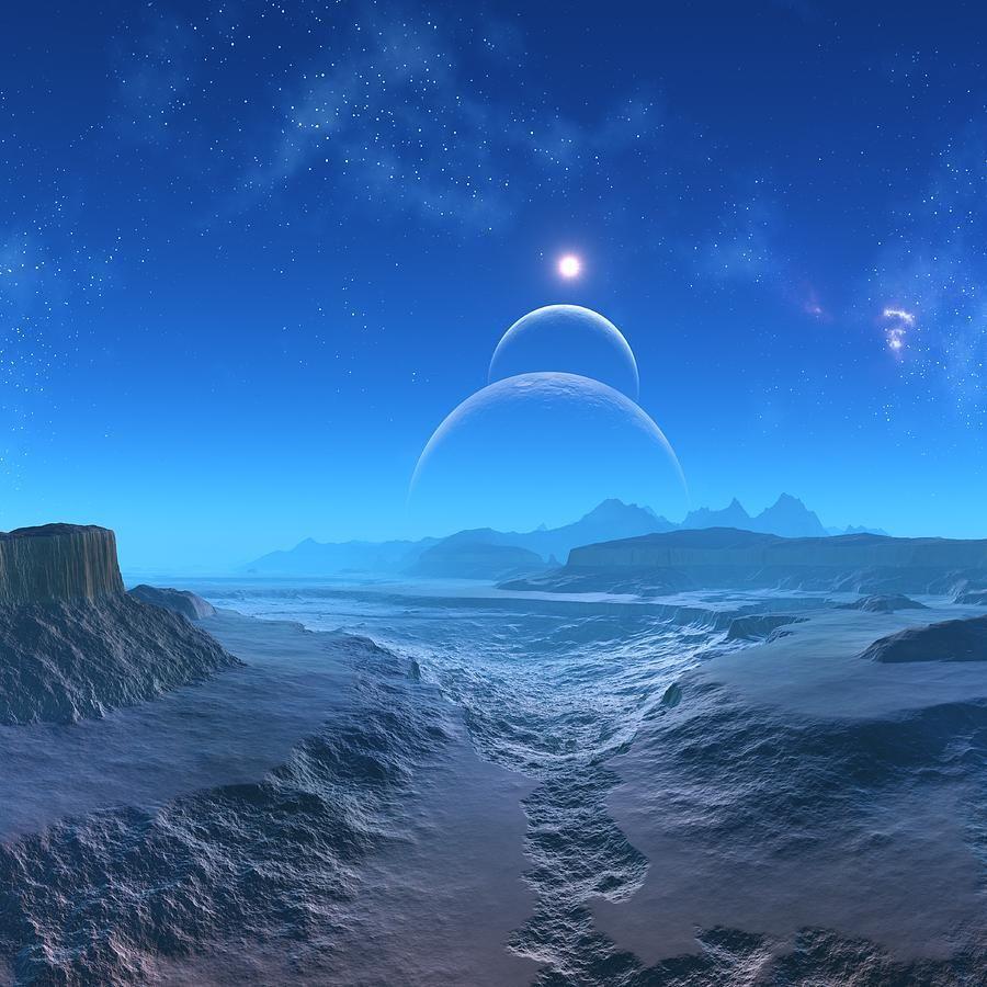 Alien planet art   Extra-solar Planet art   Pinterest
