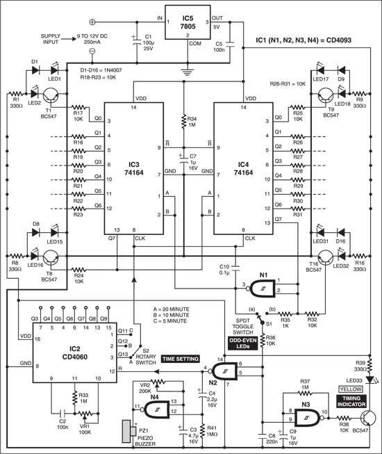 LED SandGlass Timer Electronics components, Electronics