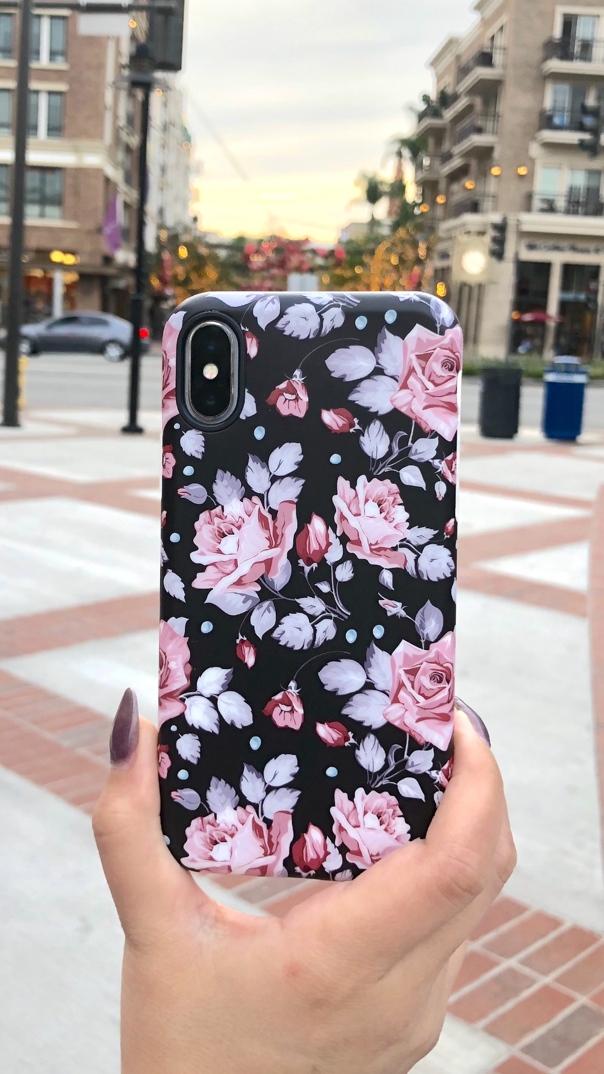 9ee28bed422 Blush Rose floral case for iPhone X, iPhone 8 Plus / 7 Plus & iPhone 8 / 7  from Elemental Cases. Design. Protection. Love.