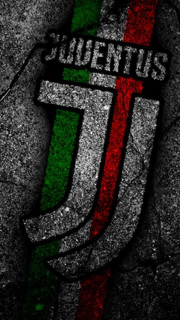 La Juventus Le Football Le Logo La Juve L Asphalte Seria A Sombre Fond La Juventus Nouveau Logo Images De Football Photos De Football Fond D Ecran Foot