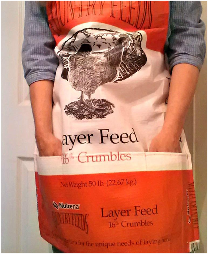Download Finished Apron With Pockets Feed Bags Gardening Apron Feed Bag Tote