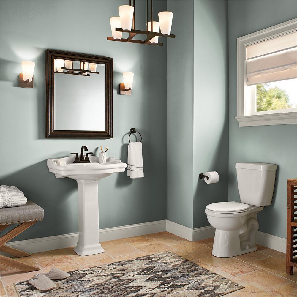 Behr Marquee 1 Gal N420 3 Misty Moss One Coat Hide Semi Gloss Enamel Interior Paint 345401 The Home Dep Painting Bathroom Behr Marquee Paint Interior Paint