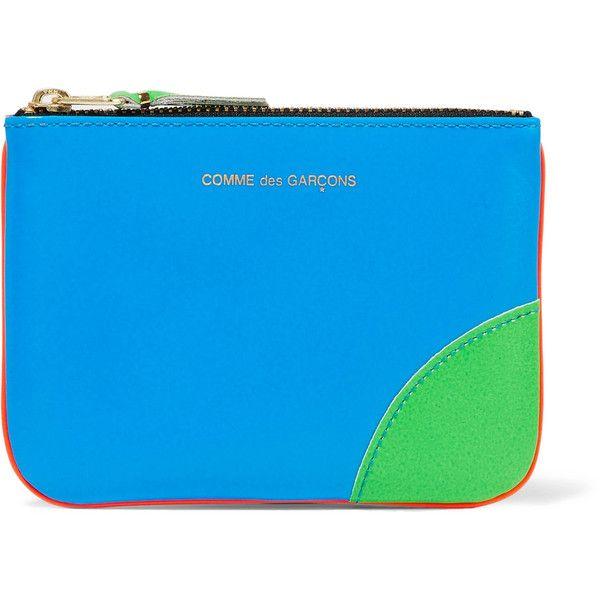 Comme Des Garçons Super Fluo Pouch In Blue,orange,neon