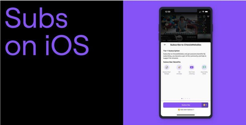 Subscription comes to Twitch on iOS, but it will cost you