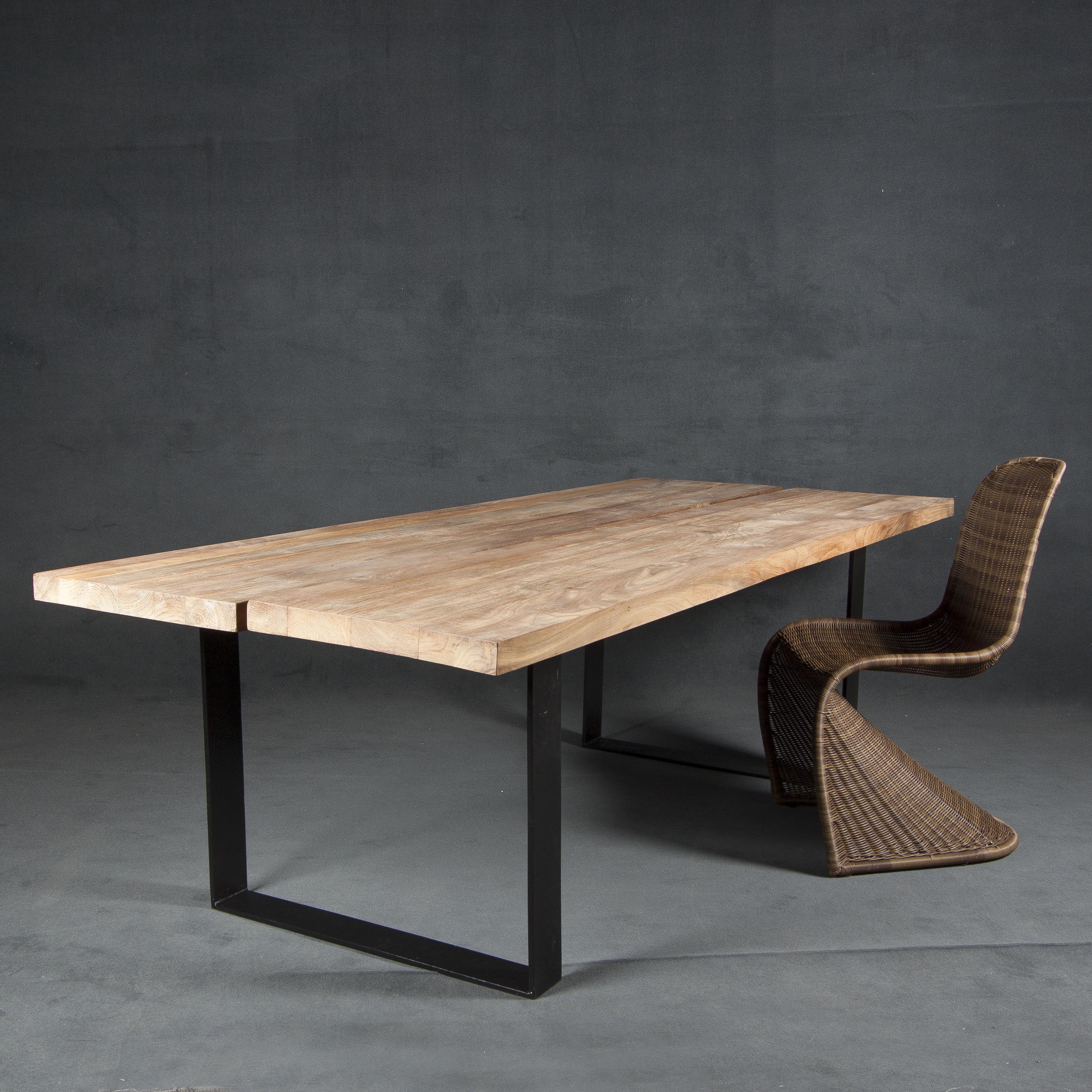 mesas de madera patas de hierro Buscar con Google