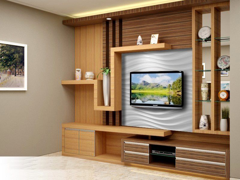 9 Cool Wooden Tv Rack Design Ideas For Your Living Room In 2020 Tv Unit Furniture Tv Rack Design Modern Tv Wall Units