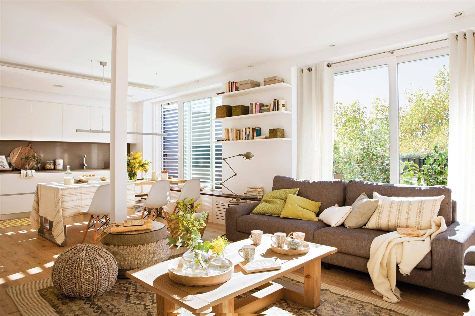 Reorganizaci n espacial salones salas de estar for Cocina de planta abierta sala de estar