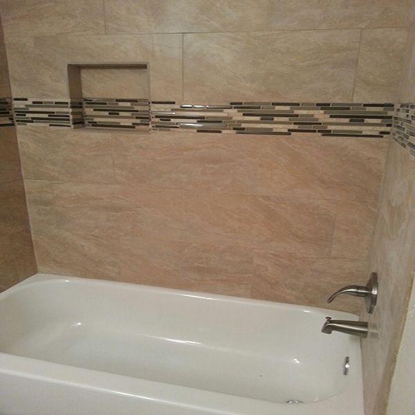 12x24 porcelain tub surround | Carpet & Tile Installations ...