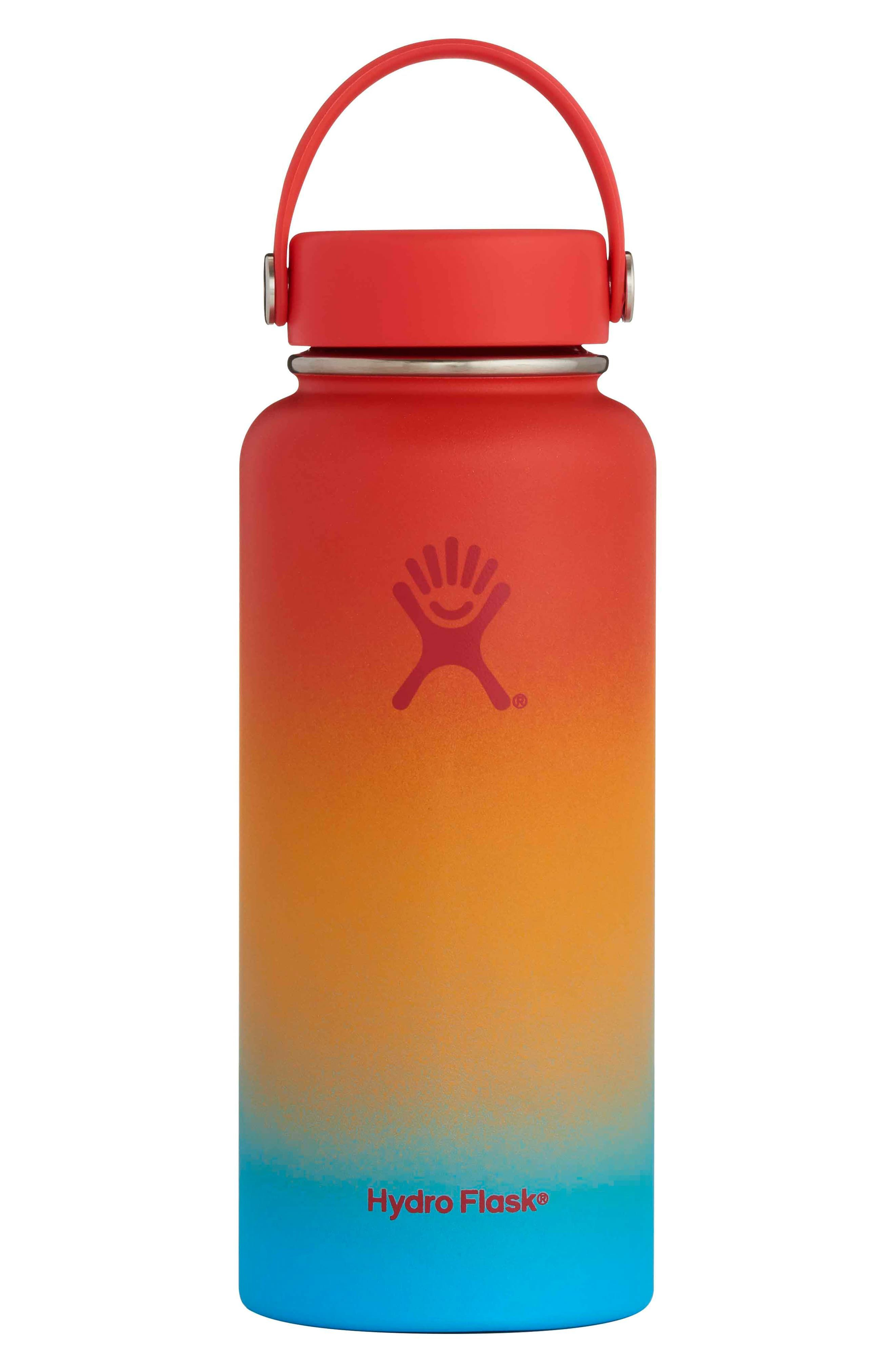 Hydro Flask Shave Ice 32 Ounce Wide Mouth Cap Bottle Size One Size Orange Hydro Flask Bottle Hydroflask Flask