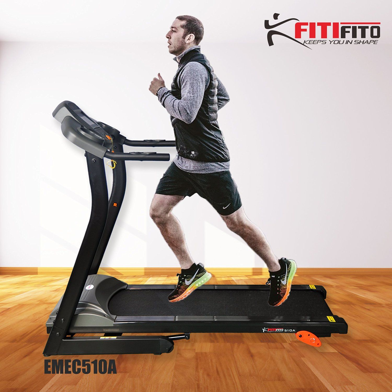 Fitifito 510A Living Laufband 3PS 12km/h mit LCD Bildschirm, 6 Zonen Dämpfungssystem, 25 Trainingsprogrammen - Klappbar, Schwarz: Amazon.de: Sport & Freizeit