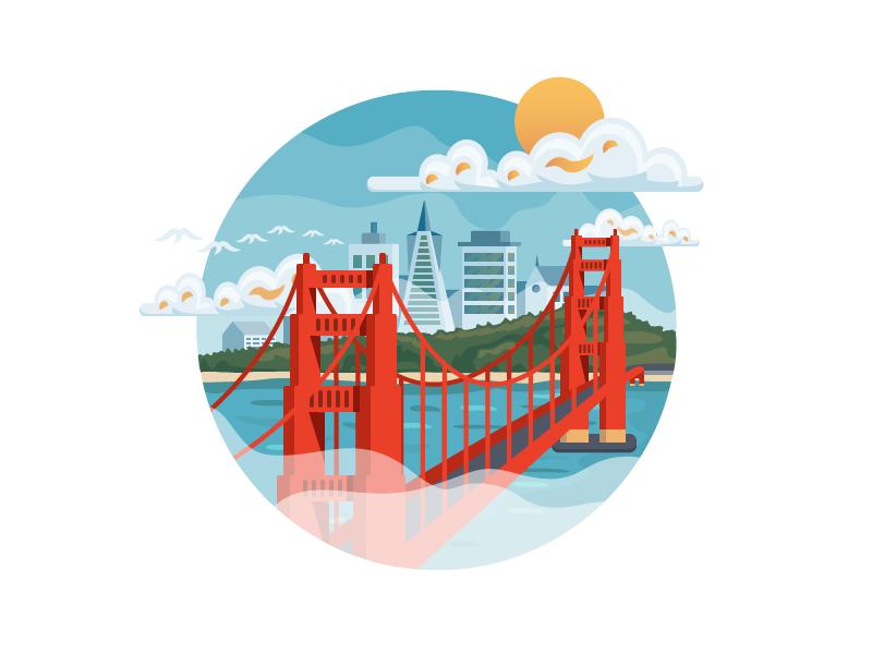 San Francisco San Francisco Art Vector Artwork Illustration Design