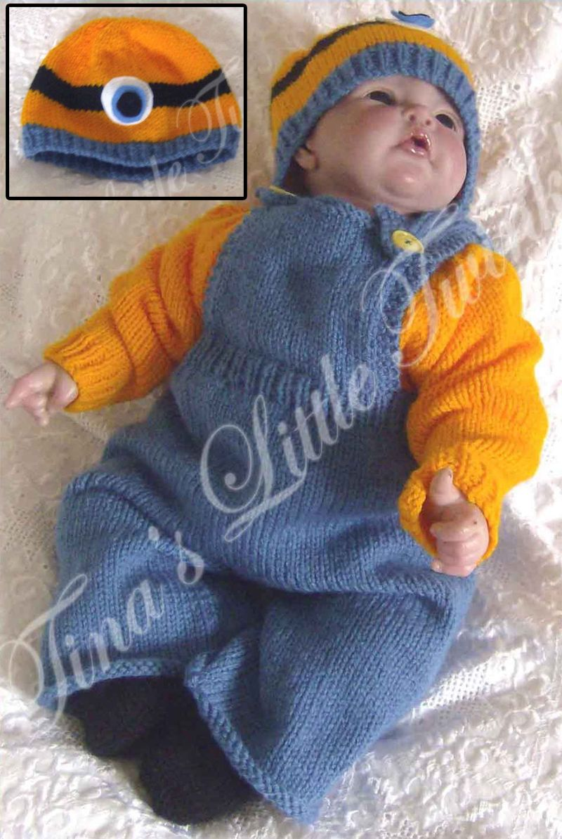 Knitting Pattern for Minion Baby Set - This Minion-inspired baby set ...
