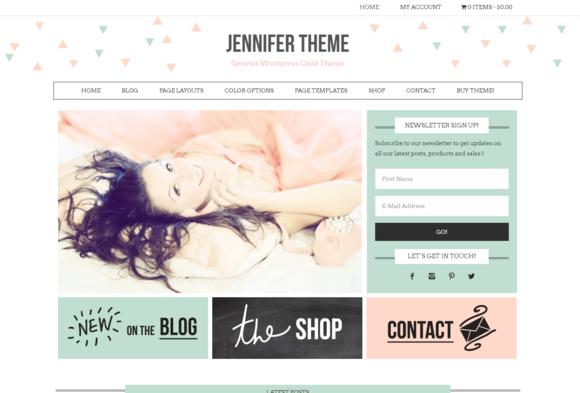 Ecommerce Feminine Genesis Theme Jen by Lovely Confetti on ...