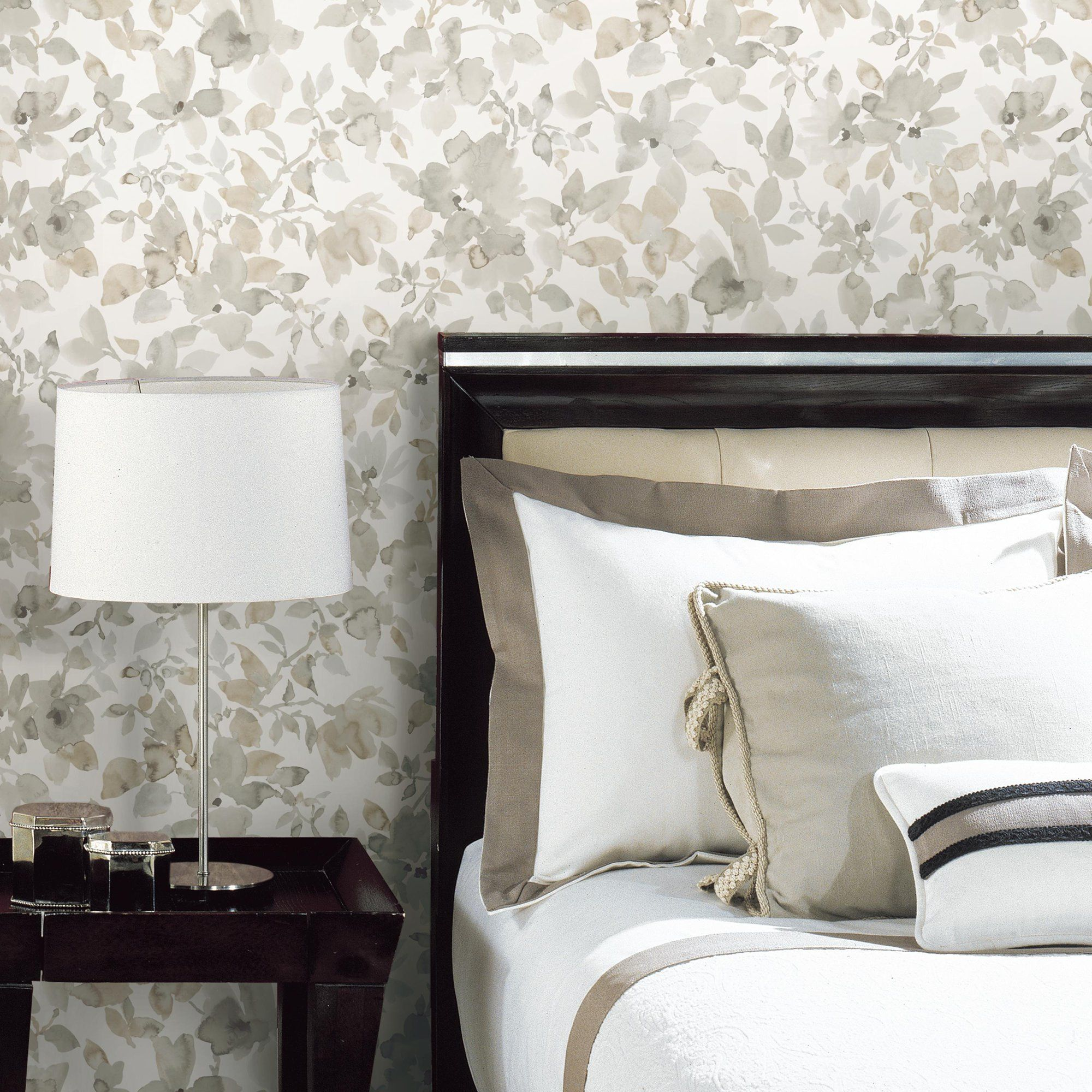 Roommates Neutral Watercolor Floral Peel And Stick Wallpaper Walmart Com Peel And Stick Wallpaper Roommate Decor Peelable Wallpaper