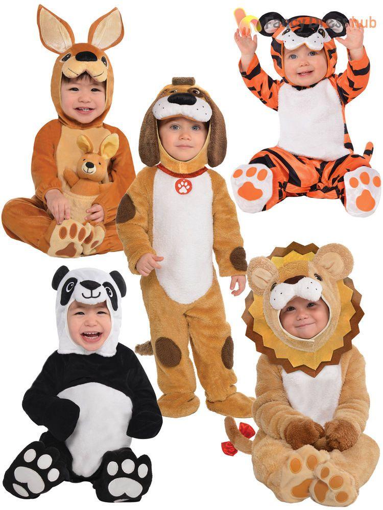 f848c5a202 Baby Toddler Animal Costume Boy Girl Zoo Jungle Fancy Dress Infant Jumpsuit  Kids
