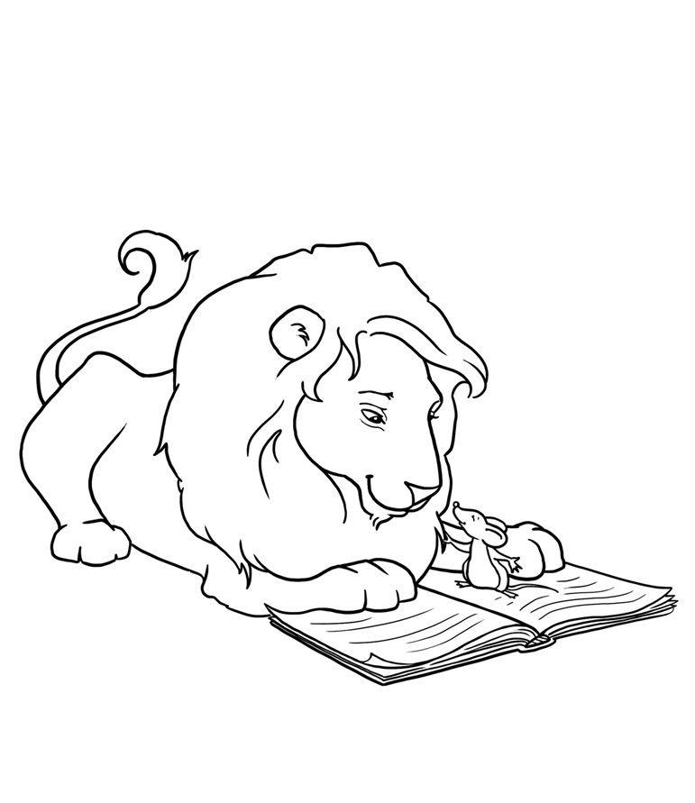 Раскраска лев и собачка толстой распечатать