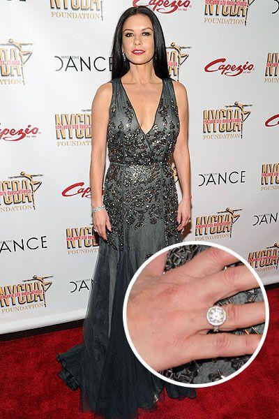 Catherine Zeta Jones Spotted Wearing Wedding Ring