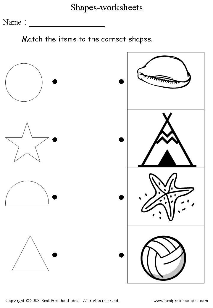 preschool worksheets – Preschool Shape Worksheets
