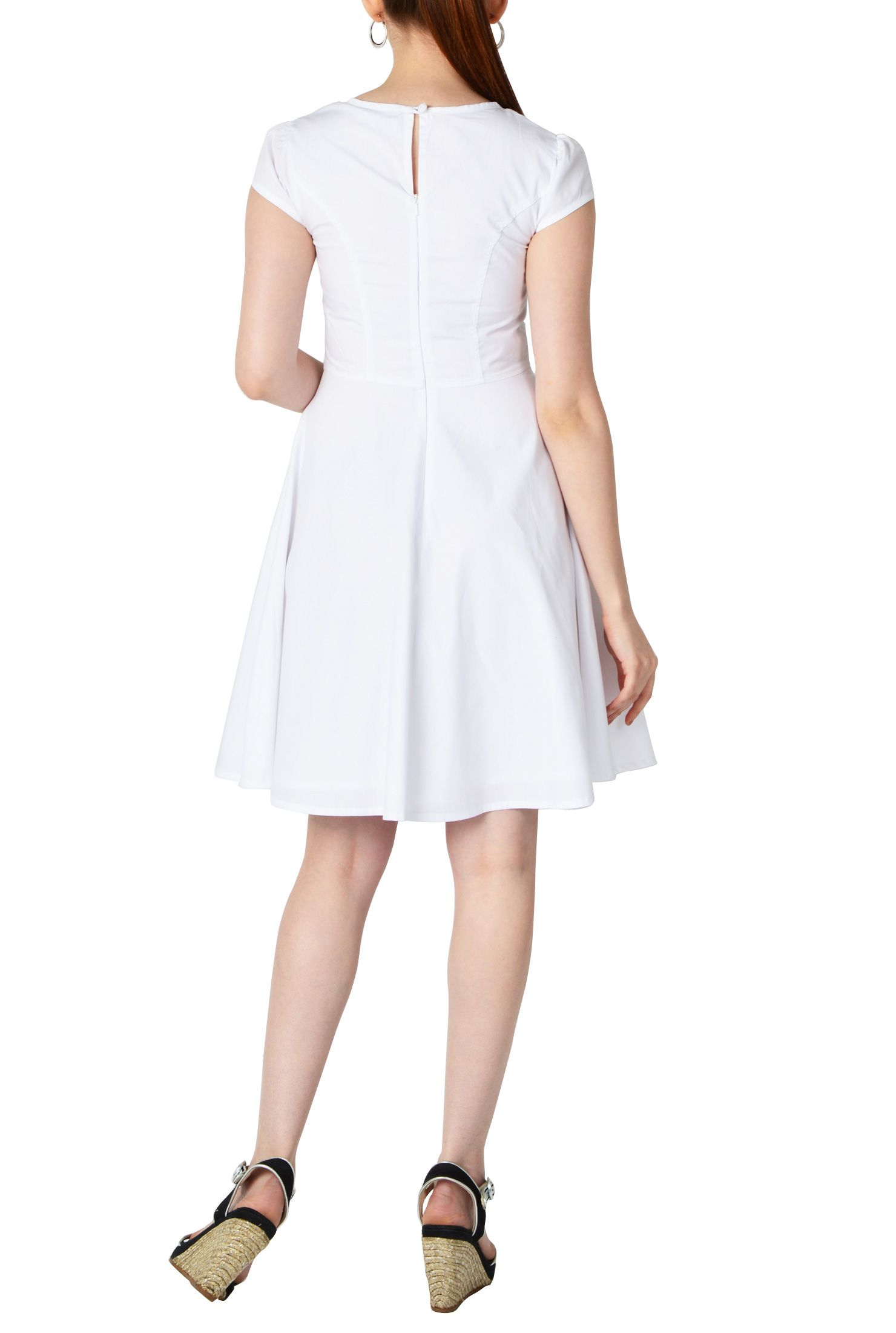 Morgan Dresses Cotton Poplin Cap Sleeve Women S Designer Dress Stylish