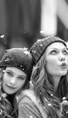 Karlie Kloss With Behati Prinsloo For Victorias Secret October 2012