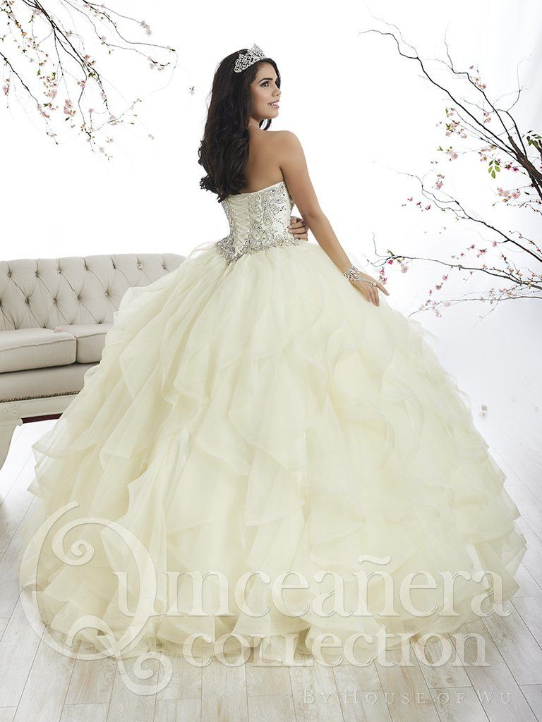 3ffb361f6d4 Tiffany Quinceanera 26870 Banana Cream Sweetheart Embellished Ball Gown