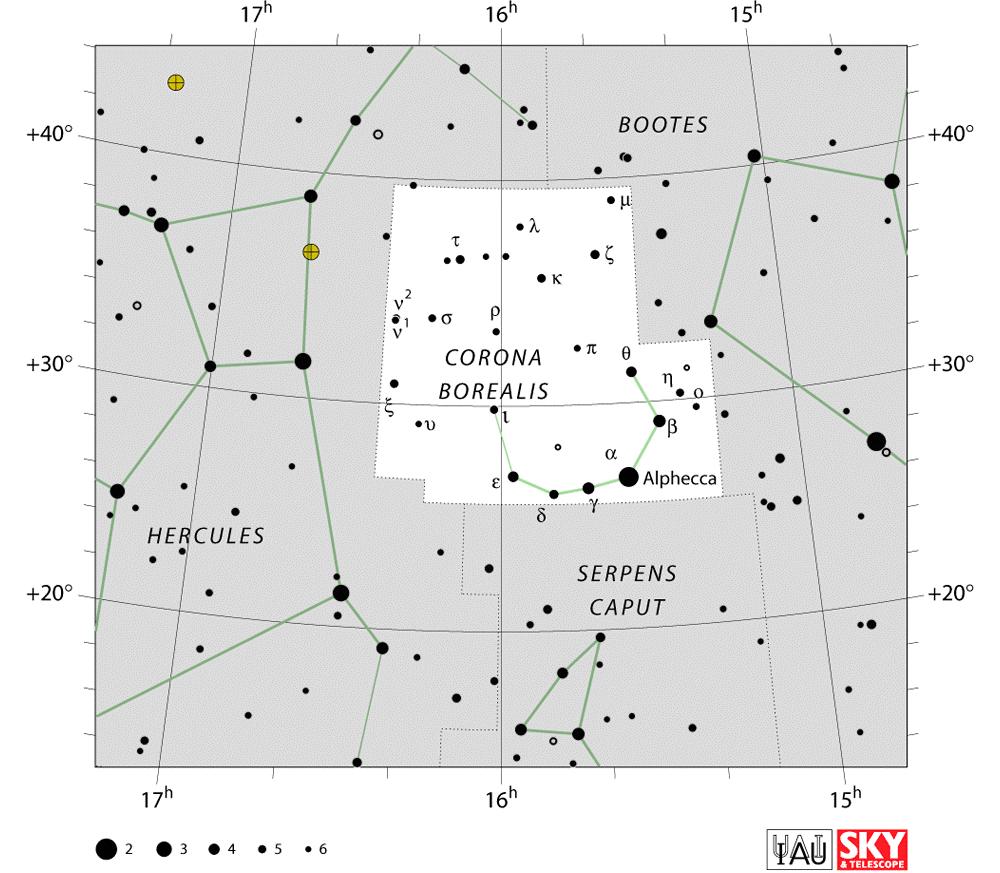 Northern Crowncorona Borealis Star Map Astronomy Pinterest Universe Today Solar System Diagram Chart