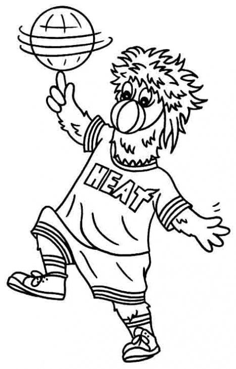 Free Miami Heat Icon Cooring Page To Print | Sports Coloring Pages ...