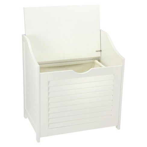 Design Trends® Bench Hamper with Shutter Front and Foam ...