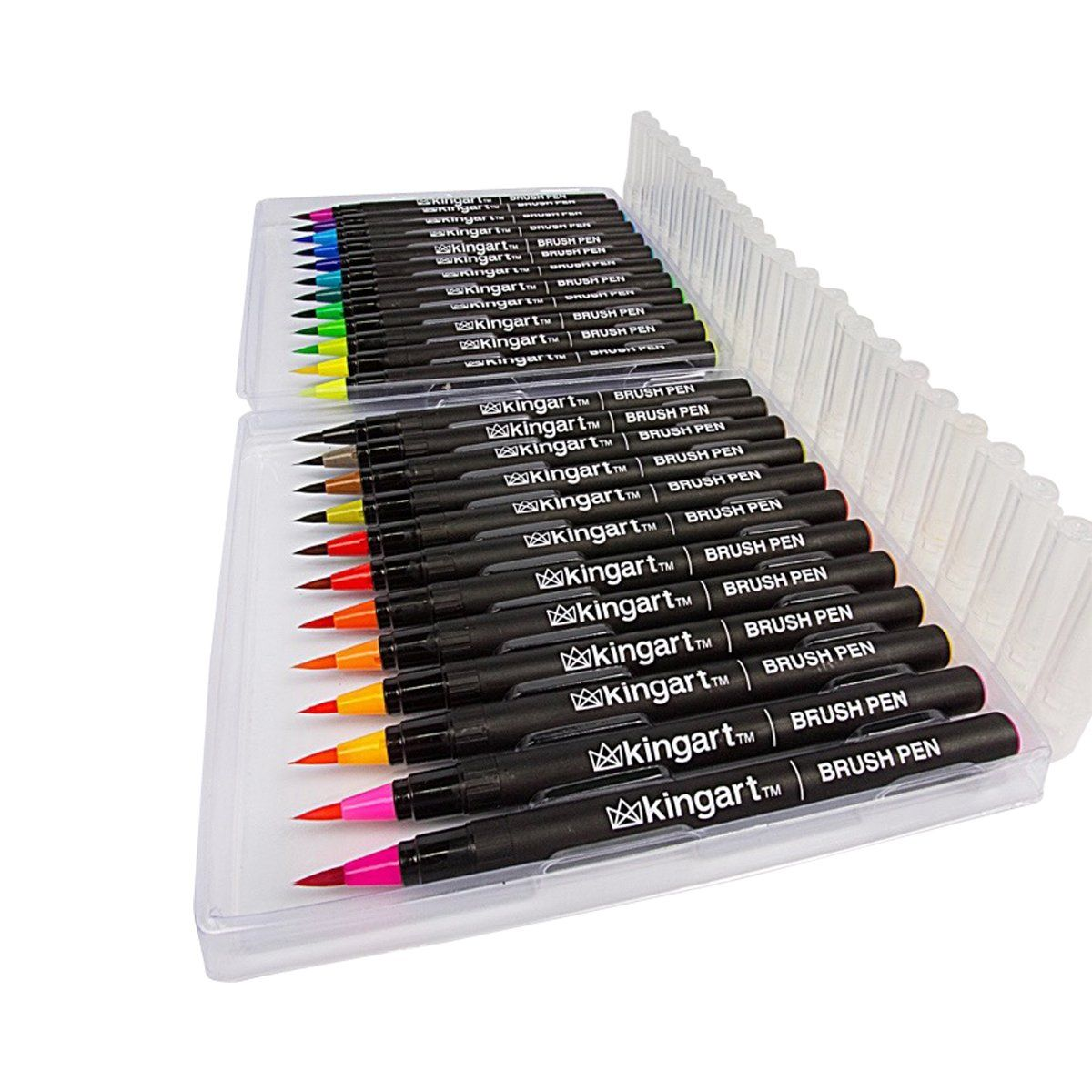 Real Brush Pens Set Of 24 Watercolor Markers With Flexible Brush