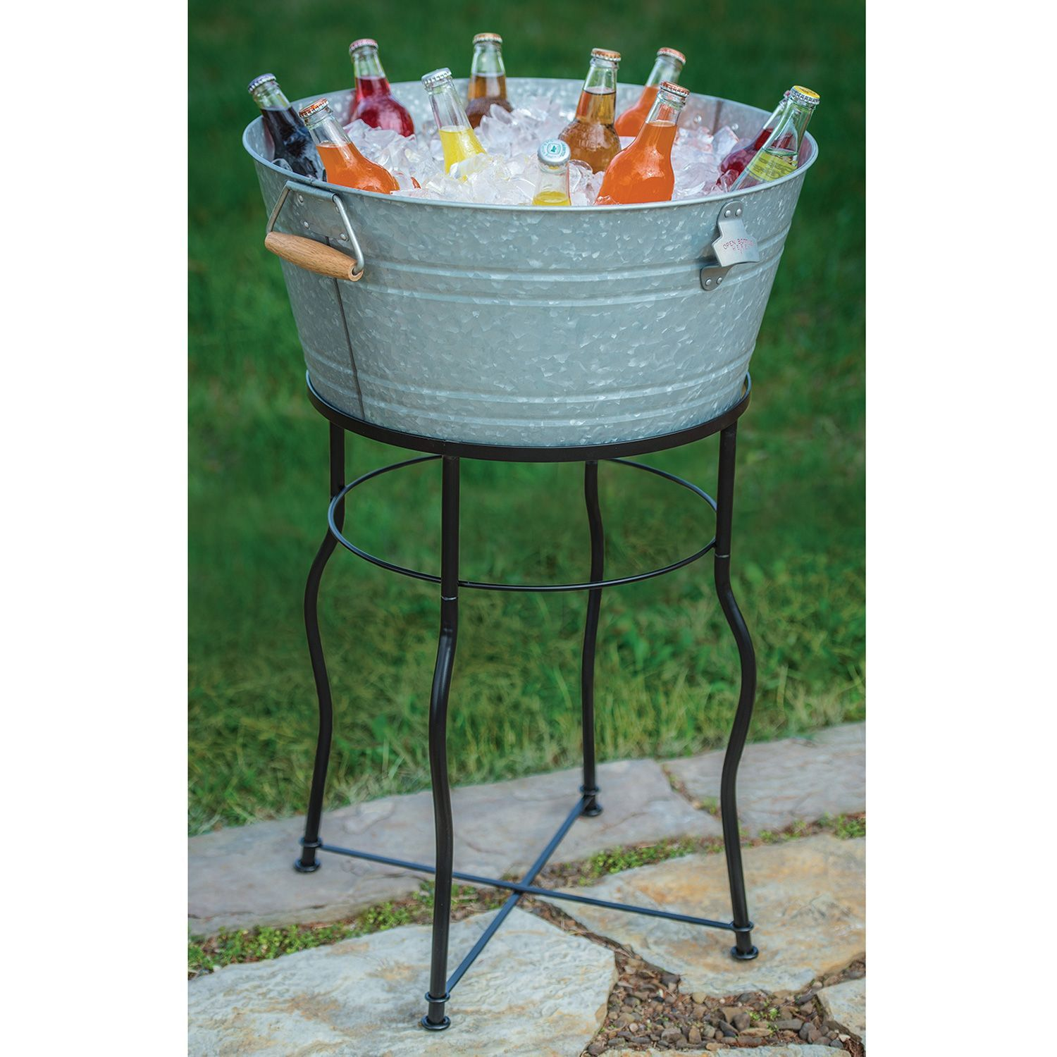 better homes com walmart metal tub gardens beverage oval ip