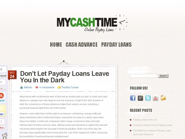 When faced with a bottomless well of bills and an empty bank account, a credit card cash advance or payday loan may begin to look like a beacon of light in the dark shadow of debt; the convenience of these advances make them easy to access, providing a proverbial financial light at the end of the tunnel.