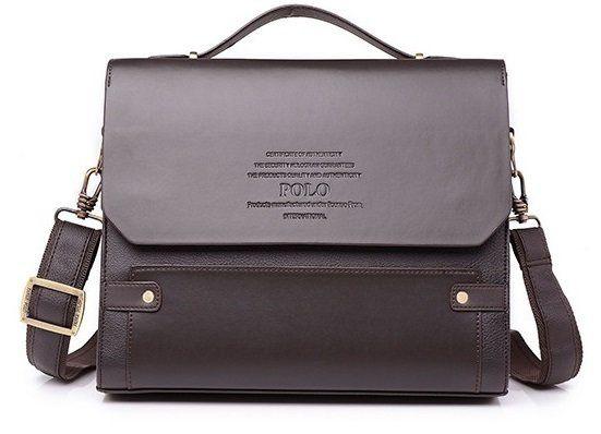 37de134b10ee Каркасная мужская сумка-портфель Polo.Под формат А4 Сумка для документов с  ручкой -