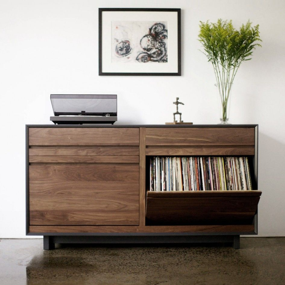 Mesmerizing Outdoor Vinyl Storage Cabinets with Walnut Wood Finish also  Vintage Vinyl Record Player
