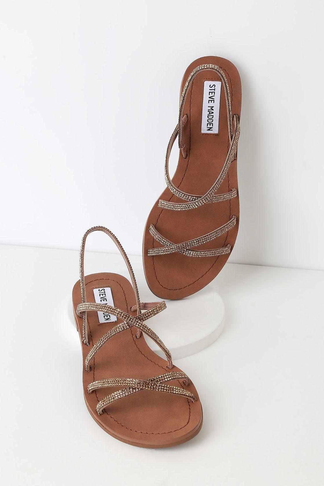 c51434dd5b7 Lulus | Rita Bronze Multi Strappy Sandal Heels | Size 9.5 | Brown ...